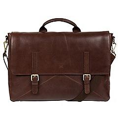 Made by Stitch - Malt 'Big Andrew' handmade buffalo leather laptop satchel