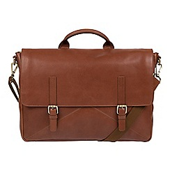 Made by Stitch - Whiskey 'Big Andrew' handmade buffalo leather laptop satchel