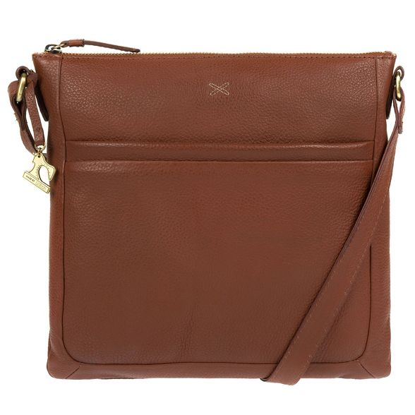 Stitch Cognac leather bag by 'Essie' Made handmade wqE56nF