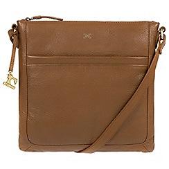 Made by Stitch - Dark tan 'Essie' handmade leather bag