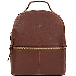 Made by Stitch - Cognac 'Viva' handmade leather backpack