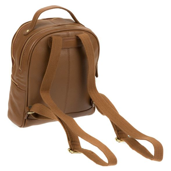 by Dark tan handmade Made backpack leather 'Viva' Stitch aqd7awxnO