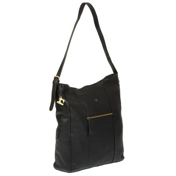 bag Stitch by Black leather handmade hobo 'Yashi' Made nO0RFxwqR