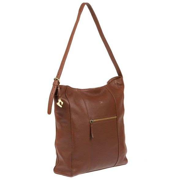 leather Made handmade by Cognac bag hobo 'Yashi' Stitch Xq6Xrwa