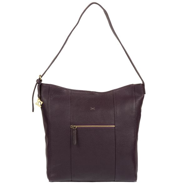 leather Made Plum by Stitch bag 'Yashi' handmade hobo AqH8Bwq