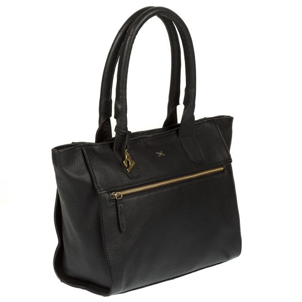 handmade tote bag Black Made by Stitch 'Quinn' leather YIwPAqx