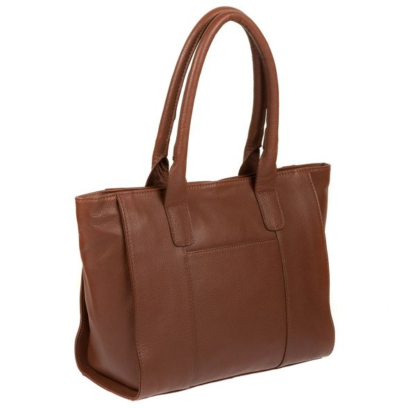 handmade bag tote by 'Quinn' Cognac Made Stitch leather vxgUwnqA