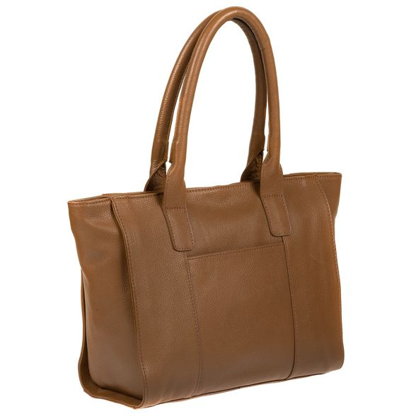 tote Dark tan by 'Quinn' handmade Made Stitch bag leather wTBHx4