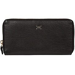 Made by Stitch - Black 'Netty' zip round leather purse