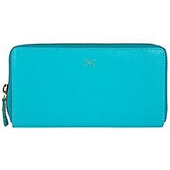 Made by Stitch - Blue 'Lil' handmade leather RFID zip-round purse