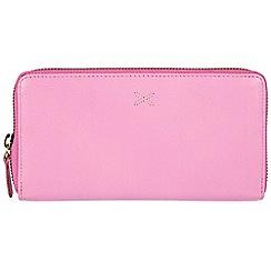 Made by Stitch - Pink 'Lil' handmade leather RFID zip-round purse