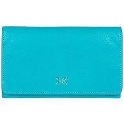 Made by Stitch - Blue 'Jennie' handmade leather RFID purse