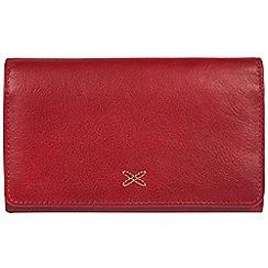 Made by Stitch - Red 'Jennie' handmade leather RFID purse