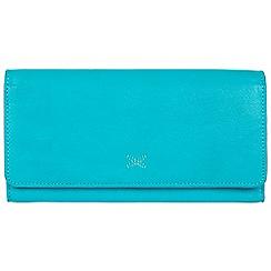 Made by Stitch - Blue 'Karen' handmade leather RFID purse