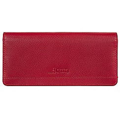 Made by Stitch - Red 'Lindale' handmade leather RFID purse