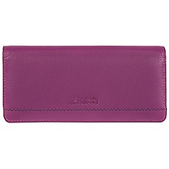Made by Stitch - Violet 'Lindale' handmade leather RFID purse