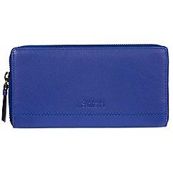 Made by Stitch - Royal Blue 'Newby' handmade leather RFID purse