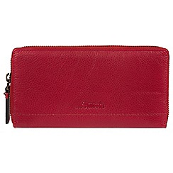 Made by Stitch - Red 'Newby' handmade leather RFID purse