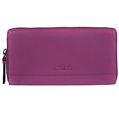 Made by Stitch - Violet 'Newby' handmade leather RFID purse