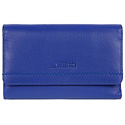 Made by Stitch - Royal Blue 'Millbeck' handmade leather RFID purse