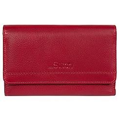 Made by Stitch - Red 'Millbeck' handmade leather RFID purse