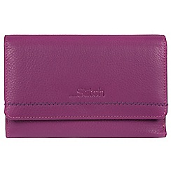Made by Stitch - Violet 'Millbeck' handmade leather RFID purse