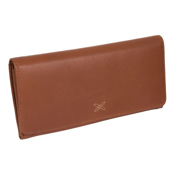 Made by handcrafted Stitch Tan leather RFID 'Lana' purse OOxBrS