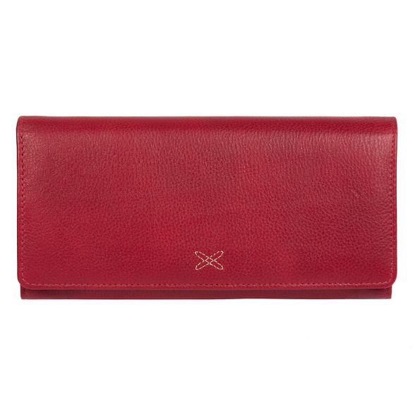 Red handcrafted RFID Made 'Lana' Stitch purse leather by 4xInrnqYF
