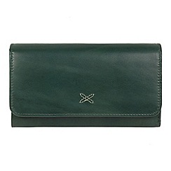 Made by Stitch - Green 'Klara' handcrafted leather RFID purse