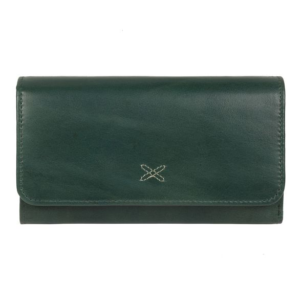RFID Stitch 'Klara' handcrafted by leather Made Green purse gqaxYRnz