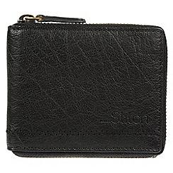 Made by Stitch - Black 'Belmount' leather zip-round RFID wallet