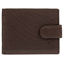 Made by Stitch - Dark brown 'Naddle' leather RFID wallet