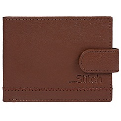 Made by Stitch - Cognac 'Storrs' natural leather RFID wallet