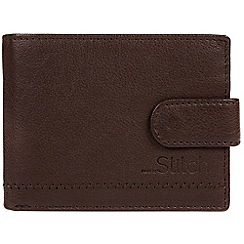 Made by Stitch - Dark brown 'Storrs' natural leather RFID wallet