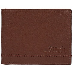 Made by Stitch - Cognac 'Stybeck' natural leather RFID wallet