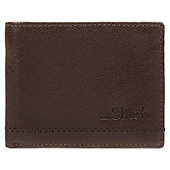 Made by Stitch - Dark brown 'Stybeck' natural leather RFID wallet