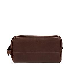 Made by Stitch - Malt 'Bowfell' handmade leather washbag