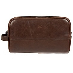 Made by Stitch - Malt 'Bowfell' handmade leather wash bag