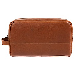 Made by Stitch - Whiskey 'Bowfell' handmade leather wash bag