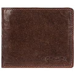 Conkca London - Conker brown 'Liszt' handcrafted leather RFID wallet