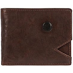 Conkca London - Conker brown 'Franz' cowhide RFID wallet and card holder
