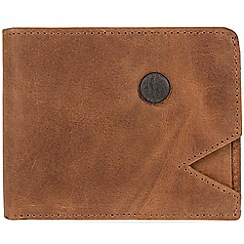 Conkca London - Vintage cognac 'Franz' cowhide RFID wallet and card holder