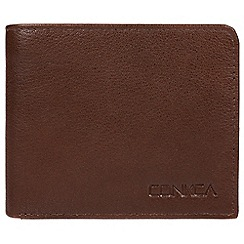 Conkca London - Russet brown 'Wolfgang' leather RFID wallet