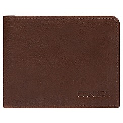 Conkca London - Russet brown 'Dmitri' leather RFID wallet