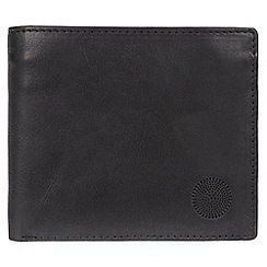 Conkca London - Black 'Harris' quality leather RFID wallet
