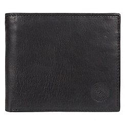 Conkca London - Black 'Hoy' genuine leather RFID wallet