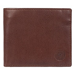 Conkca London - Dark brown 'Hoy' genuine leather RFID wallet
