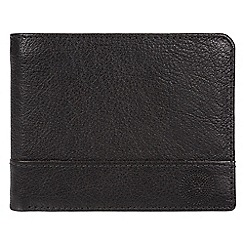Conkca London - Black 'Carter' quality leather RFID wallet