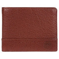 Conkca London - Conker brown 'Carter' quality leather RFID wallet