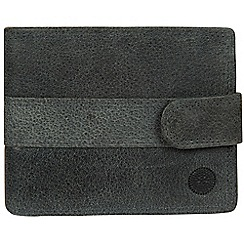 Conkca London - Navy 'Jude' handcrafted leather wallet
